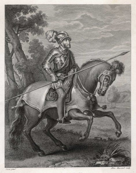 CARL V / KARL V Holy Roman Emperor, also King of Spain as Charles I, seen here on his horse