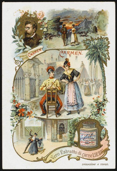 Scenes from the opera, based on a story by Prosper Merimee