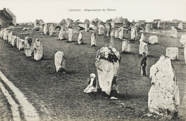 The standing stones at Carnac, Brittany, France. There are 2000 standing stones, arranged in long lines. These pre-date the Egyptian Pyramids and Stonehenge