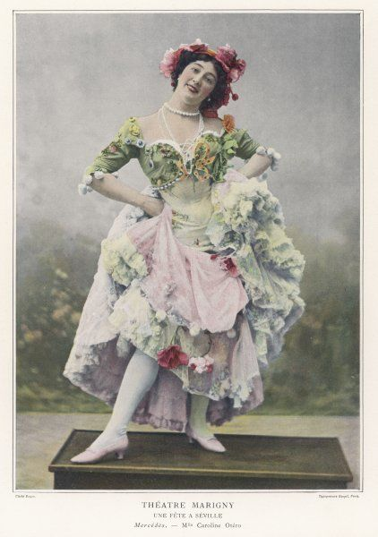 CAROLINA OTERO Spanish actress and dancer, seen here in the role of Mercedes in 'Une Fete a Seville&#39