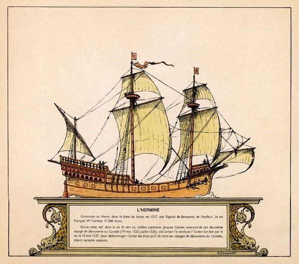 Jacques Cartier sailed in this ship to Canada, setting off in 1517