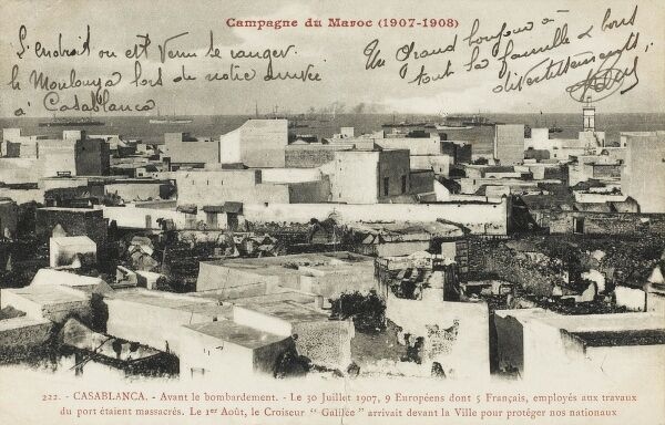 Casablanca - Before the bombardment of the Moroccan Campaign