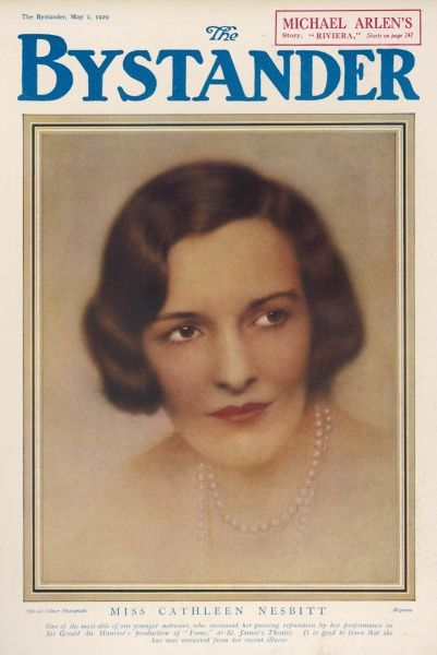 CATHLEEN NESBITT English film and stage actress. Admired by the poet Rupert Brooke. Had a career spanning seventy years