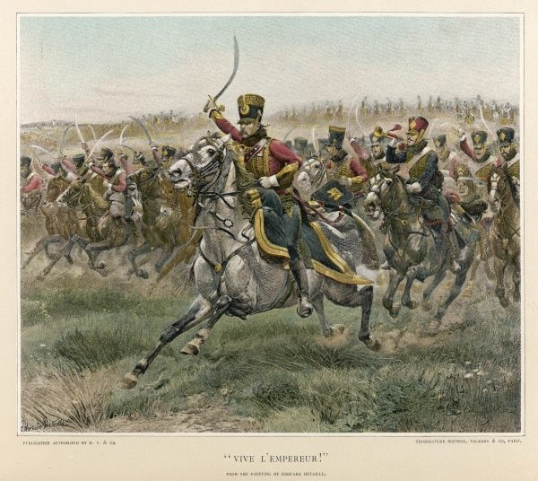 A French cavalry charge during the Napoleonic Wars - no specific battle