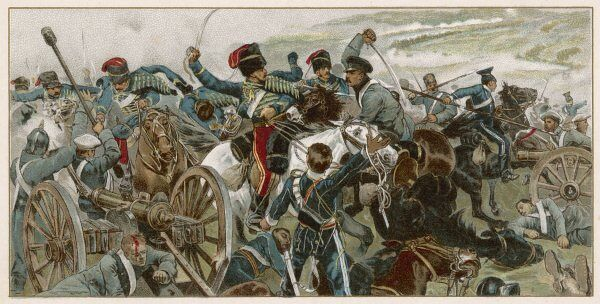 British cavalry counter-attack against the greatly superior Russian attack and successfully rout the enemy
