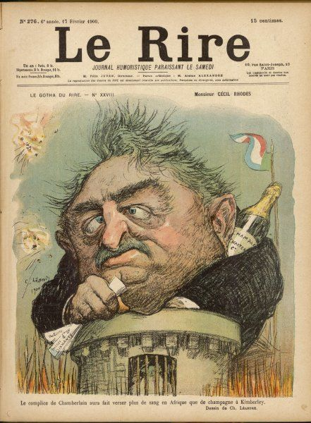 CECIL RHODES Statesman, entrepreneur and imperialist in South Africa, caricatured by Leandre