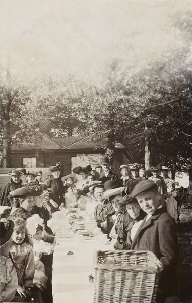A country village garden party to celebrate the coronation of George V on 22nd June 1911