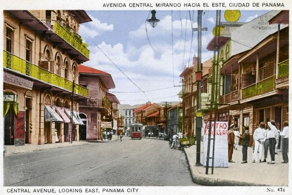 Central Avenue, Looking East, Panama City