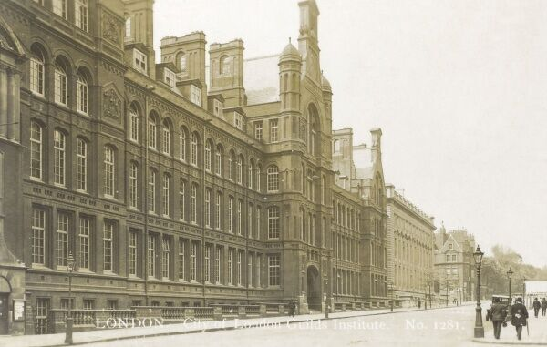 Central Institution of the City & Guilds of London, Exhibition Road, South Kensington, London - designed by Alfred Waterhouse. Demolished in 1962. Date: circa 1910s