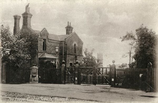 Entrance lodge of the Central London District Schools at Hanwell, Middlesex, also known as the Cuckoo Schools