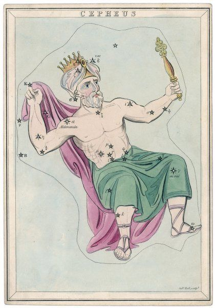 The northern constellation of Cepheus, king of Ethiopia, husband of Cassiopeia and father of Andromeda