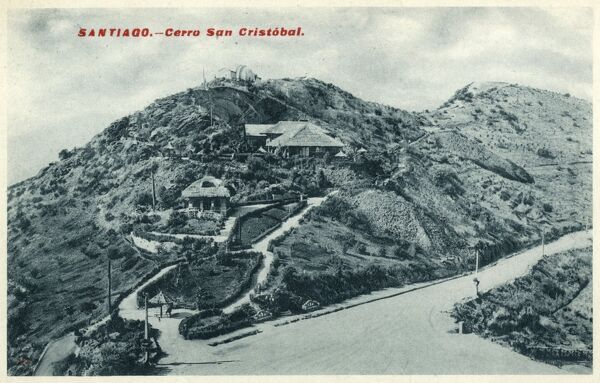 Cerro (Hill of ) San Cristobal - Santiago, Chile. Its original indigenous name was Tupahue. Date: circa 1910s