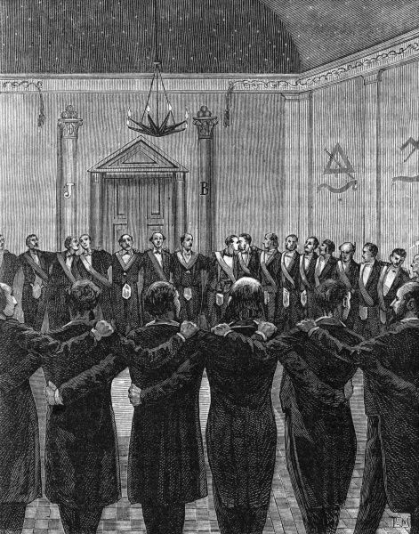 Members of a lodge link together to form a chain of union