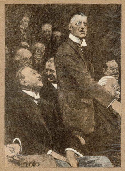 Austen Chamberlain warns against German power; the Germans ask, is it hate or fear?