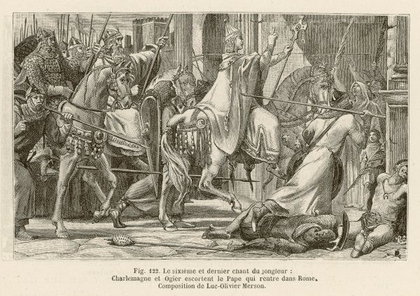 Charlemagne escorts deposed Pope Leo III back to Rome where he demands that Leo & his accusers appear before him. Charlemagne is crowned Roman Emperor in 800