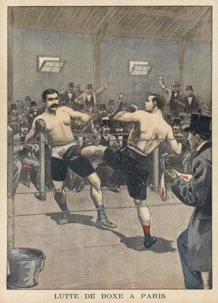 French fighter Charlemont introduces a little Gallic flair to the boxing ring. Driscoll maintains a stiff upper lip