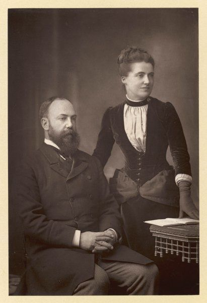SIR CHARLES WENTWORTH DILKE statesman, with his wife, Emilia Frances Strong, widow of Mark Pattison. She believed in his innocence when involved in divorce scandal