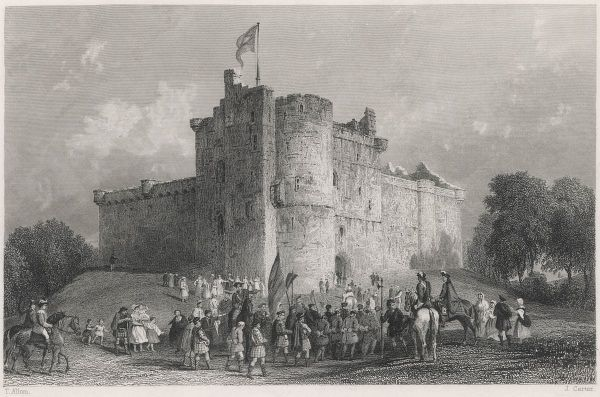 At the Castle of Doune, Prince Charles Stuart secures his prisoners after the Battle of Falkirk