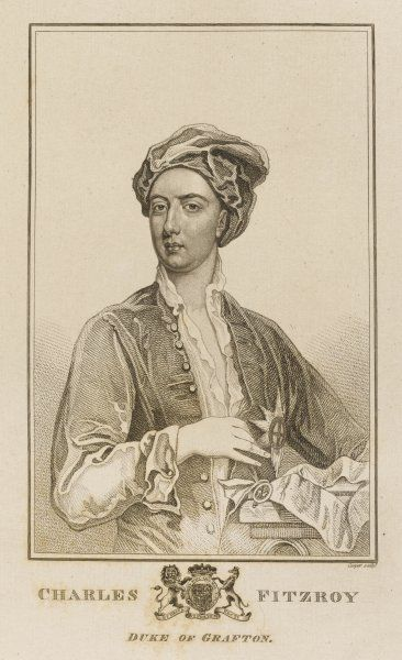 CHARLES FITZROY, second duke of GRAFTON grandsonn of Charles II and Barbara Villiers : statesman who held a succession of offices