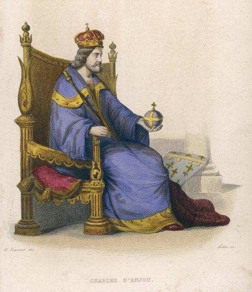 CHARLES I (CHARLES D'ANJOU) Italian King of Naples and Count of Anjou, brother of Louis IX of France, ruler of Sicily