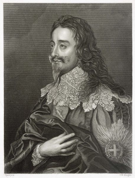 CHARLES I OF ENGLAND in cavalier dress