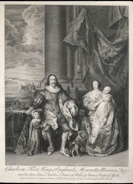 Charles and his wife Henrietta Maria, with their sons Charles and James, both of whom will be kings in their turn, and keep their heads though not always their crowns