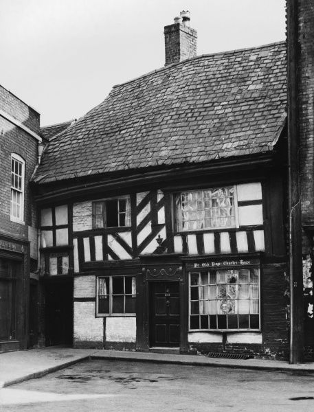 King Charles II's tiny old timbered house at Worcester, built in 1577. It was here that the King took refuge in 1651 after being defeated at the Battle of Worcester