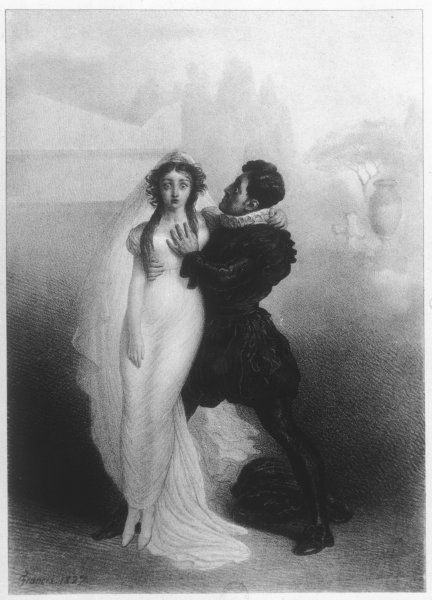 CHARLES KEMBLE - British actor in the role of Romeo with Harriet Smithson as Juliet