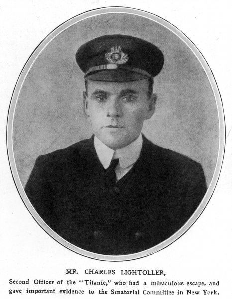 Second Officer of the Titanic, who miraculous survived and gave evidence to the Sentorial Committee in New York