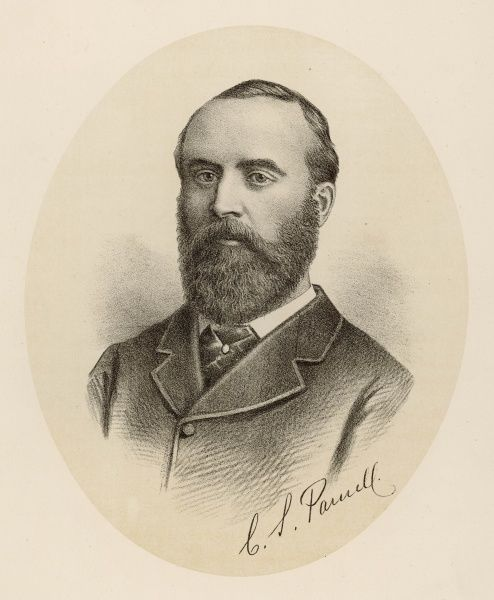 CHARLES STEWART PARNELL Irish Nationalist politician pictured in 1886