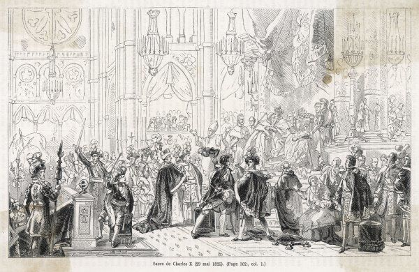 The sacre (consecration) of Charles X at Reims