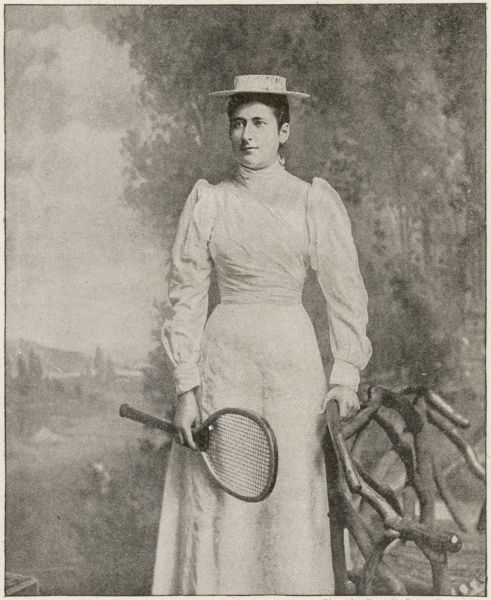 Lottie Dod (1871-1960) sportswoman, tennis player and five times Wimbledon champion