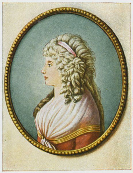 CHARLOTTE VON STEIN (1742 - 1827) Married friend and confidante of Goethe's to whom he sent daily, for ten years poems and letters Date