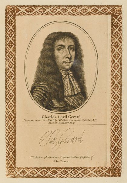 CHARLES GERARD, earl of MACCLESFIELD statesman with his autograph