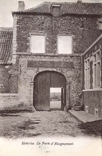 Chⴥau d'Hougoumont is a large farmhouse situated at the bottom of an escarpment near the Nivelles road in Braine-l'Alleud, near Waterloo, Belgium