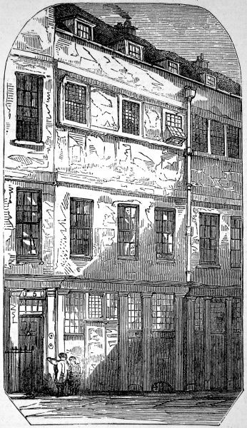 Engraving showing the exterior of the house in which Thomas Chatterton (1752-1770), the English Romantic poet, lived and died