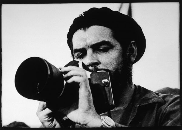 ERNESTO GUEVARA Known as CHE GUEVARA Latin American guerrilla leader and revolutionary theorist. Pictured with a camera. *UNAVAILABLE FOR USE IN ASIA AT PRESENT*