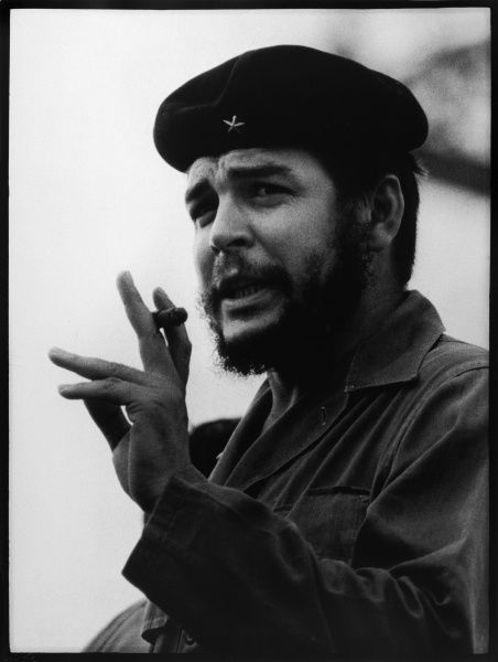 ERNESTO GUEVARA Known as CHE GUEVARA Latin American guerrilla leader and revolutionary theorist. Smoking a cazadores cigar; the cheapest possible. *UNAVAILABLE FOR USE IN ASIA AT PRESENT*