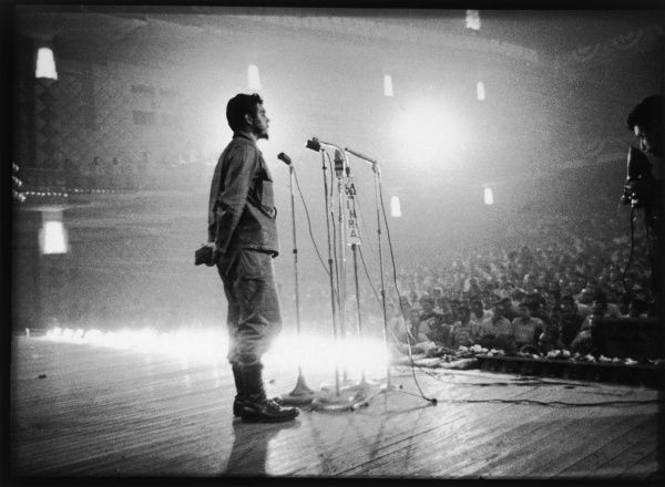 ERNESTO GUEVARA Known as CHE GUEVARA Latin American guerrilla leader and revolutionary theorist. Speaking to the Central Org. of Cuba T.U. *UNAVAILABLE FOR USE IN ASIA AT PRESENT*