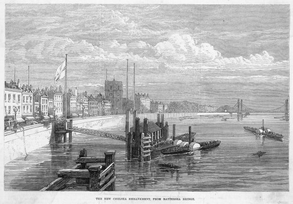 Chelsea Embankment, at the time of its completion
