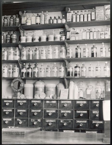 A reconstruction of an old chemist shop in the Black Country Museum