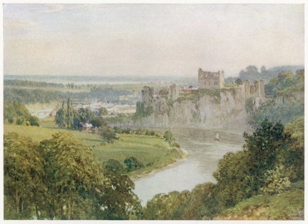 Chepstow, with Wye and Severn rivers
