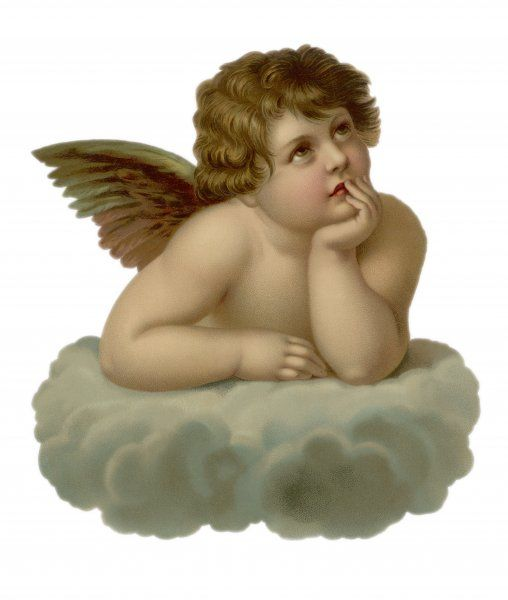 cherub looking to the right
