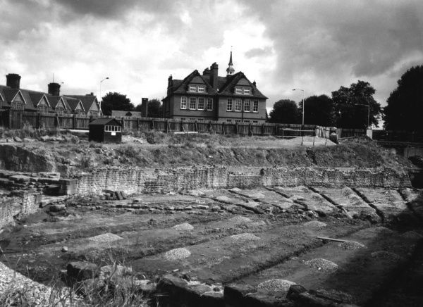 The site of the Roman amphitheatre which once stood at Chester, Cheshire, England. Date: 1st century