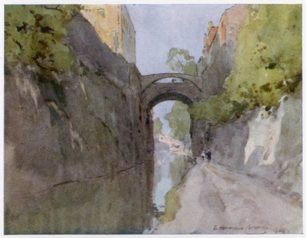 Chester: the canal and Bridge of Sighs