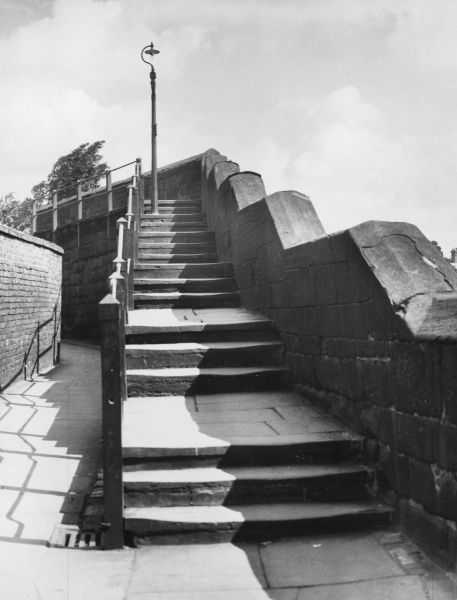 The Wishing Steps, Chester, Cheshire, England. If you want to make a wish, you must run up the whole flight of steps, then down and then up again, all in one breath!