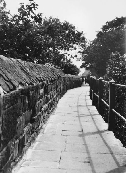 Chester City Walls, Cheshire, England, which uniquely has a complete circuit of ancient walls, almost 2 miles long and affording splendid views of this historic city