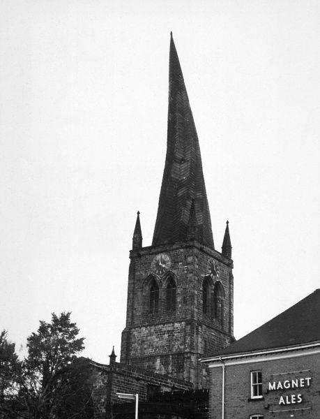 Chesterfield, Derbyshire: the crooked spire Date: 1962