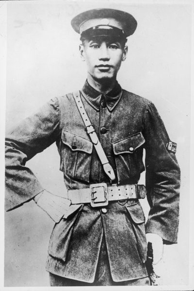 CHIANG KAI-SHEK Chinese general and politician as a young man