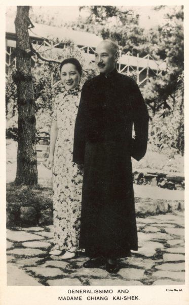 CHIANG KAI-SHEK Chinese general and politician with his wife